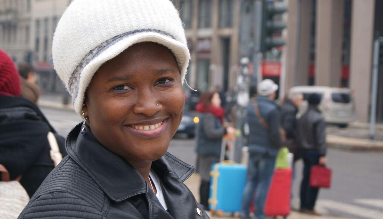 Ho conosciuto Aminata sul set del video Rifugiati Migranti Avsi <BR> Ha 24 anni viene dal Mali e sogna di essere felice, proprio come me