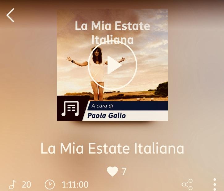 LA MIA ESTATE ITALIANA: <br> Playlist con un po' di tormento(ni)