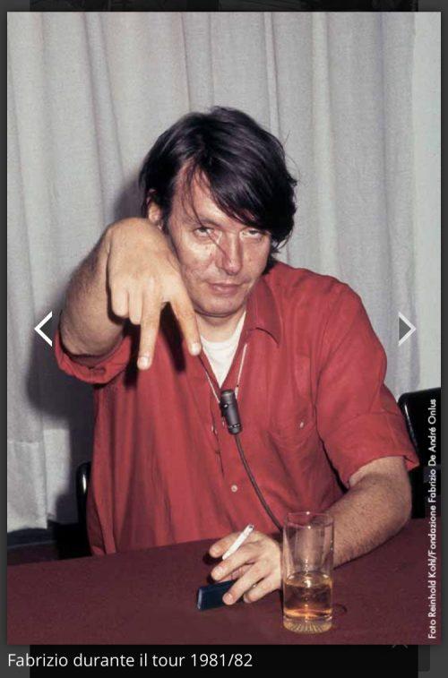 Quella volta che ho intervistato Fabrizio De Andrè e mi ha detto che assomigliavo a una Squaw…